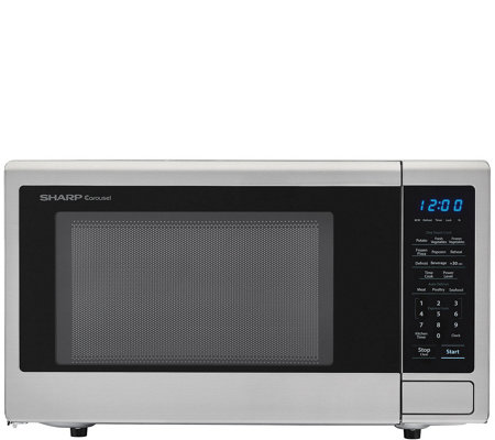 Sharp Carousel 1.1-Cubic Foot 1000W Microwave Oven - Stainless