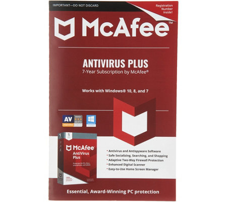 McAfee Antivirus Plus PC Protection For 7 Years 1 User