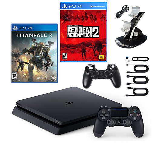 PS4 Slim 1TB Console with Red Dead Redemption 2, Titanfall 2
