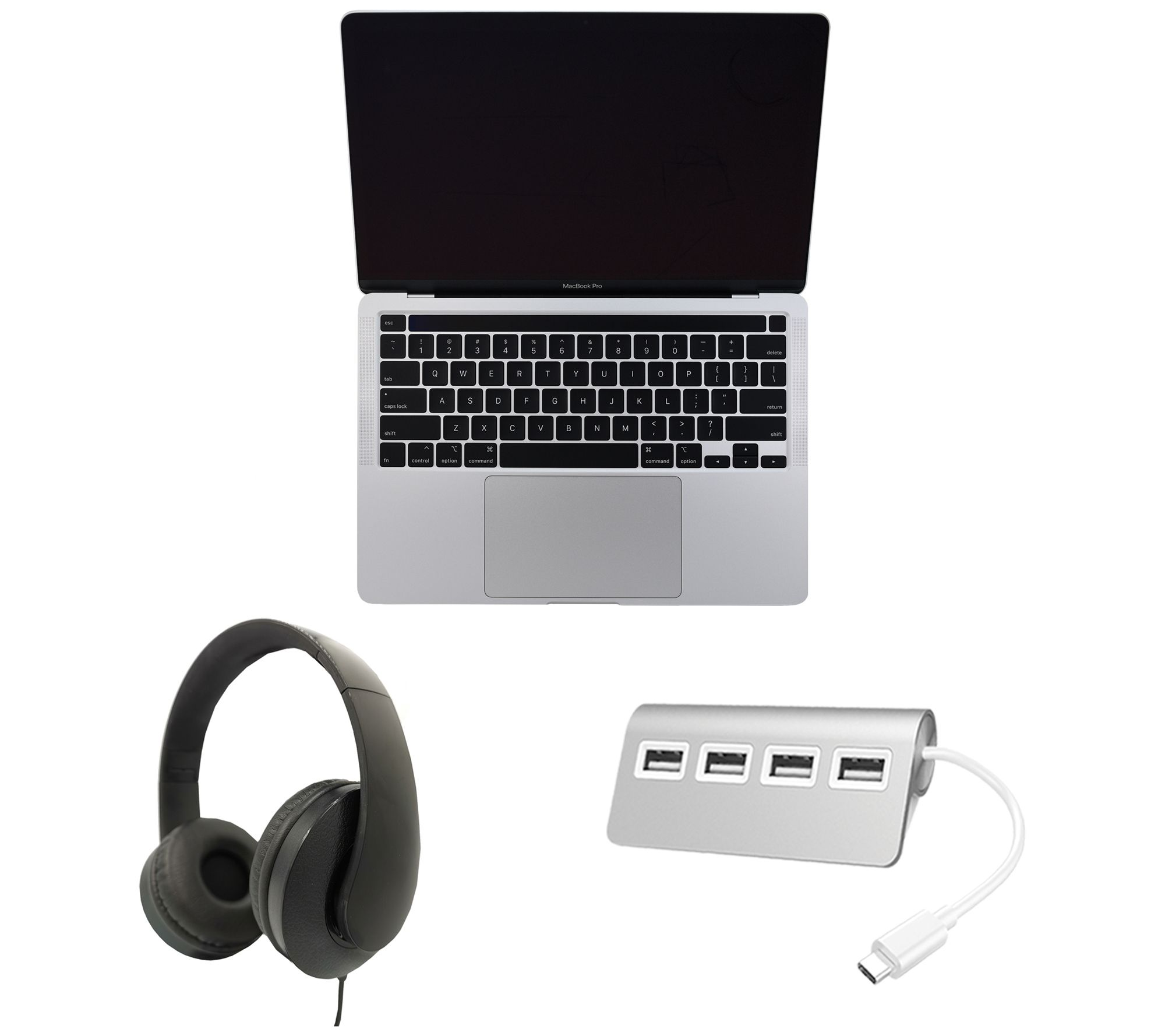 "2020 Apple MacBook Pro 13"" Bundle - i5, 16GB RAM, 1TB SSD - QVC.com"
