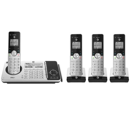 At T 4 Handset Cordless Phone With Connect To Cell Answering System