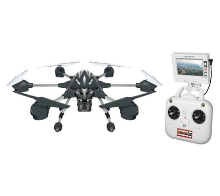 Alpha 2.4GHz HD Camera RC Drone and Remote withLCD Screen