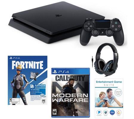 Ps4 Slim 1tb With Fortnite Neo Call Of Duty Modern Warfare Qvc Com