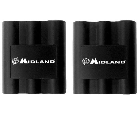 Midland Set of Two Rechargeable 2-Way Radio Batteries