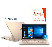 "HP 15"" Touch Laptop Core i5 8GB RAM 1TB HDD w/ 16GB Optane, Tech & Office - E232285"