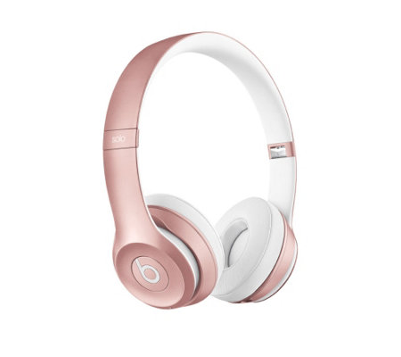 Beats Solo2 Rose Gold Wireless Headphones withApp Pack