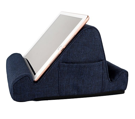 Duo Multi-Position Memory Foam Tablet Stand w/ Storage Pockets