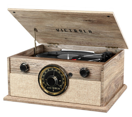 Victrola 4-in-1 Cambridge Farmhouse Modern Bluetooth Turntable
