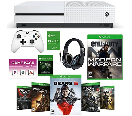 Xbox One S 1tb Gears 5 Bundle W Call Of Duty Modern Warfare Qvc Com