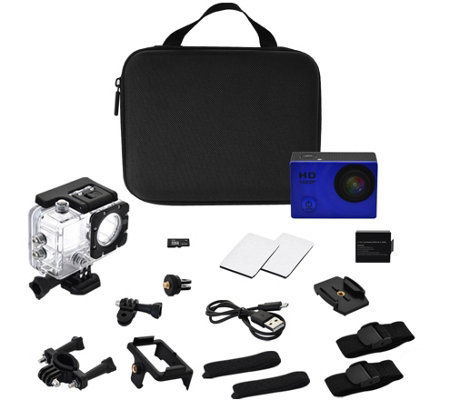 ProReel 1080p High Def Action Camera w/ 8GB SD Card and Accessories