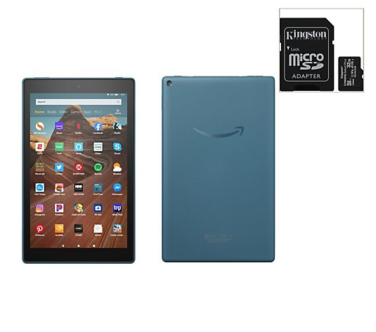 "Amazon Fire 10"" Tablet 32GB w/ SD Card and Software Voucher"