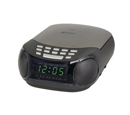 Emerson ckd9902 am/fm alarm clock radio programmable cd player.