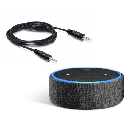 Amazon Echo Dot Fabric Cover with Audio Cable
