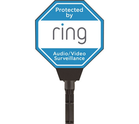 Ring Solar Powered Light-up Security Yard Sign