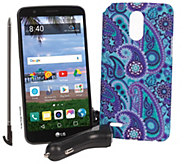 Tracfone LG Stylo 3 5.7 Smartphone with Case and 1500 Min/ Text/ Data - E231990