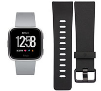 Fitbit Versa Activity Smartwatch w/ Additional Size Small Band - E226792