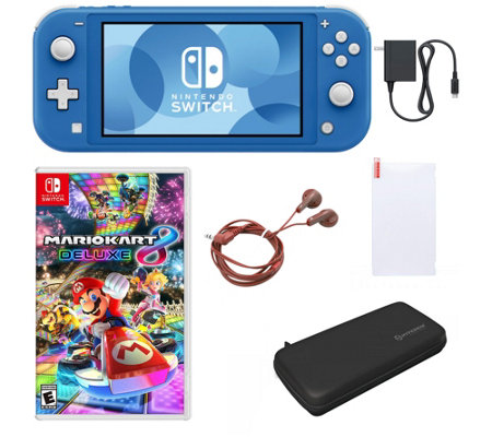 Nintendo Switch Lite With Mario Kart 8 Deluxe Accessories Qvc Com