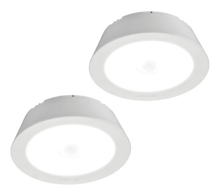 Mr Beams Set Of 2 200 Lumen Motion Sensing Ceiling Lights