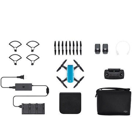 DJI Spark Mini Drone Fly More Combo With Remote& Accessories