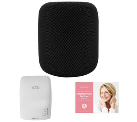 Apple HomePod with Wi-Fi Extender and SoftwareSuite - Black