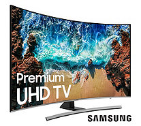"Samsung 55"" 4K Curved UHD Smart TV w/ HDMI Cable & 2-Year Warranty - E230594"