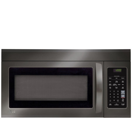 Lg 1 8 Cubic Foot Over The Range Microwave Black Stainless