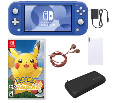 Nintendo Switch Lite with Let's Go Pikachu! &Accessories