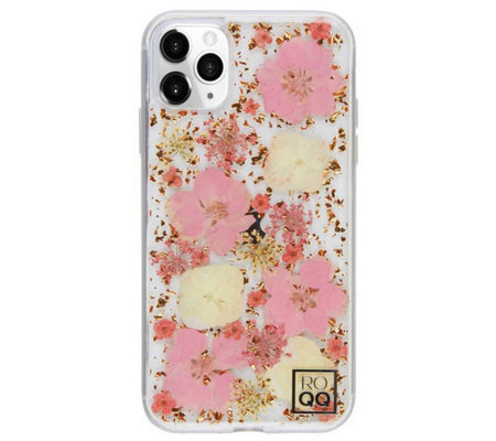 ROQQ Blossom Pressed Flowers Case for iPhone 11Pro Max