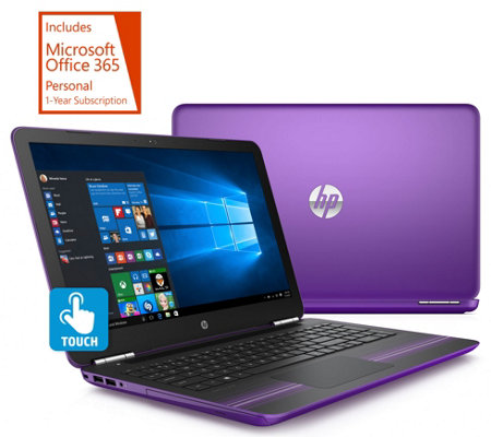 "HP 15"" Pavilion Touch Laptop AMD A9, 6GB RAM 1TB HDD with Office"