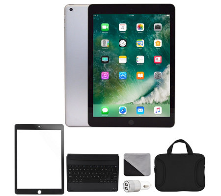 "Apple 2018 iPad 9.7"" 128GB Wi-Fi & Accessories- Space Gray"