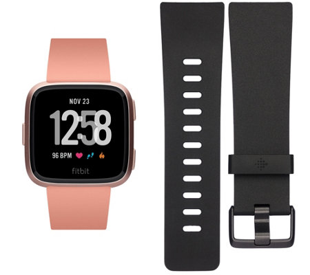 Fitbit Versa Smartwatch with Additional Band & Pandora