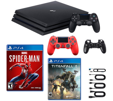 Ps4 1tb Pro Console With Spider Man And Titanfall 2
