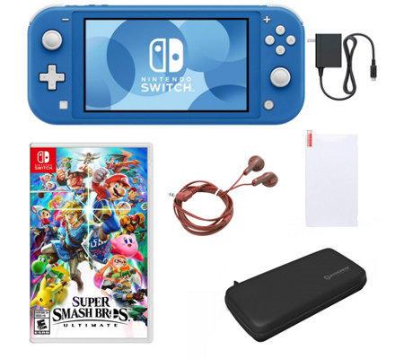 Nintendo Switch Lite with Super Smash Bros& Accessories