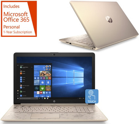 "HP 17"" Touch Laptop A9 8GB RAM 2TB HDD w/ Office 365"