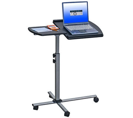 Techni Mobili Adjustable Laptop Cart on Wheels