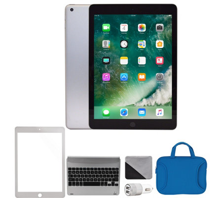"Apple 2018 iPad 9.7"" 128GB Wi-Fi & Accessories- Silver"