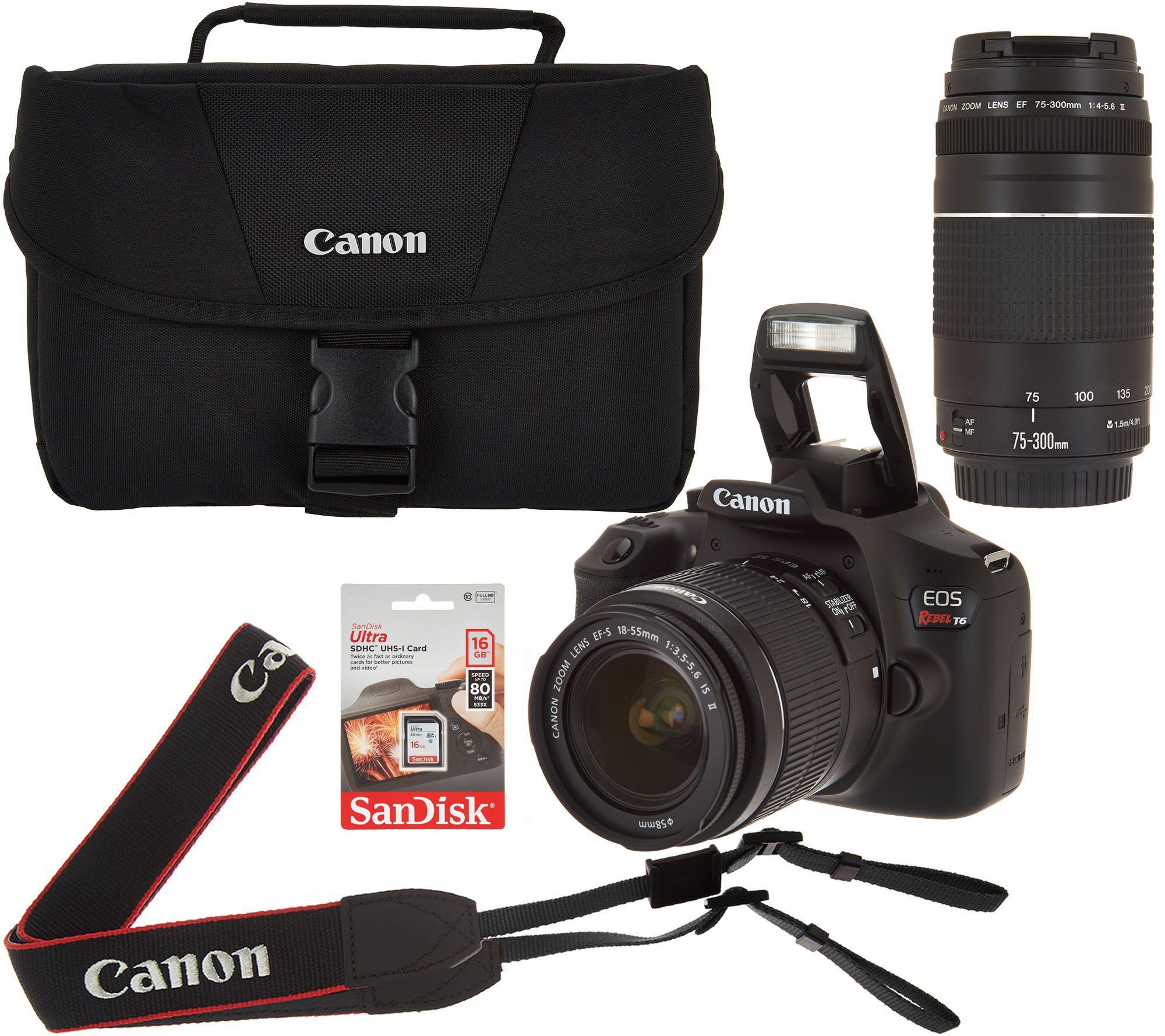 Canon Rebel camera with accessories