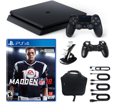 PS4 1TB Slim Console with Madden NFL 18and Accessories