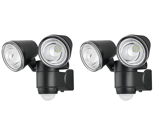 Link2Home 2-Pack LED Motion Sensor Dual-HeadFloodlight