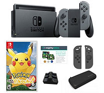 Nintendo Switch Bundle with Pokemon Let's Go Travel Case and Accessories - E232699
