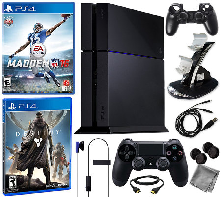Sony PS4 500GB Bundle with Madden 16, Destiny &Accessories