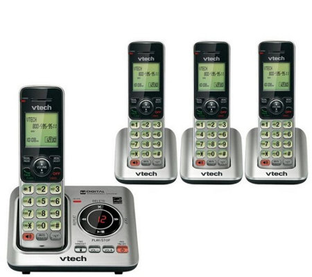 Vtech Four-Handset Cordless Answering System w/Caller ID