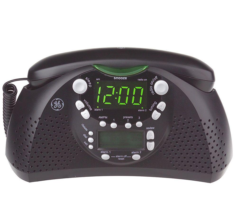 GE Dual Alarm AM/FM Clock Radio And Bedroom Phone W/Caller ID U2014 QVC.com
