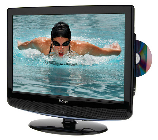 Haier 19 Diag Widescreen High Definition 720p Lcd Tv Wbuilt In Dvd