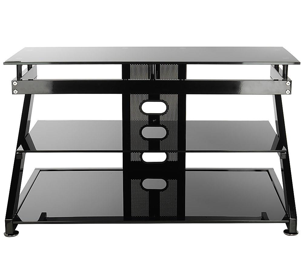 Z Line Design Escalante 40 Tv Stand W Black Glass Qvc Com