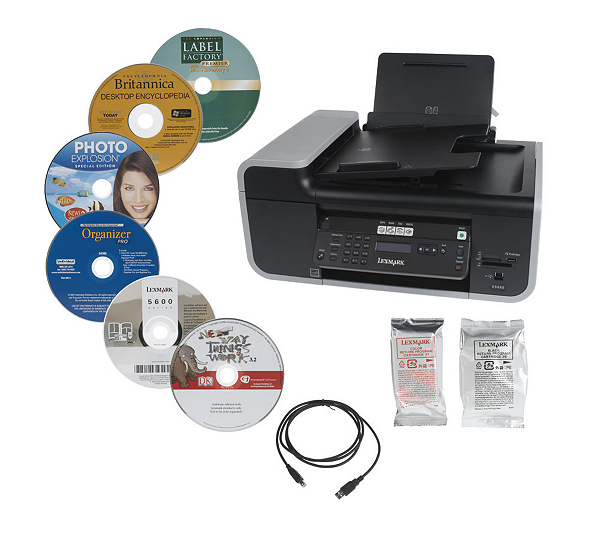 lexmark x5650 4 in 1 printer copier scanner fax usb cable 5