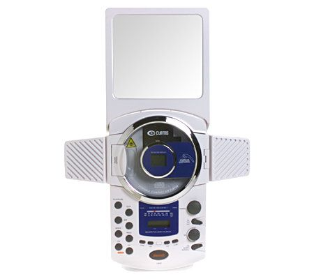 AM/FM Shower Radio With CD Player, Clock U0026 Mirror U2014 QVC.com