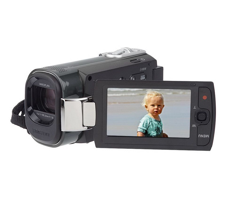 samsung 16gb memory camcorder with 65x intellizoom and case page 1 rh qvc com Samsung Hyper Dis 65X Manual samsung 65 user manual