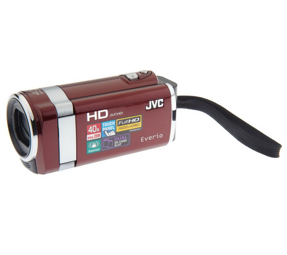 jvc everio 1080p full hd camcorder w 40x opticalzoom 4gb sd card rh qvc com JVC TV JVC KD