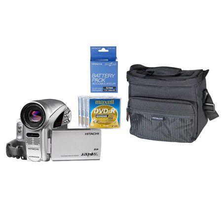 hitachi dzgx5080a 680k dvd camcorder with accessory kit page 1 rh qvc com Verizon LG Cell Phone Manual Hitachi StarBoard Manual
